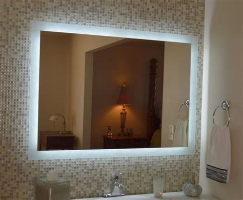lighted vanity mirror   wall mounted led bath
