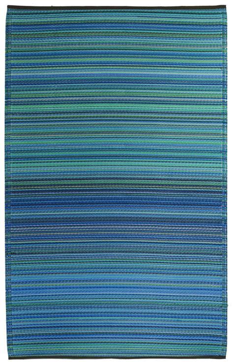 garten im quadrat outdoor teppich cancun streifen blau