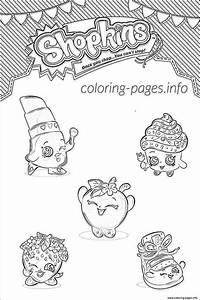 Shopkins Family List Characters Coloring Pages Printable