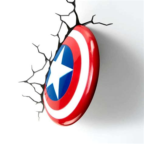 master marvel captain america shield creative 3d l led wall light of captain america