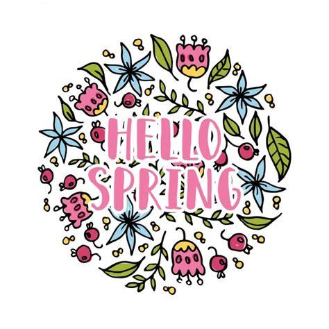 Hello Spring Vector  Free Download