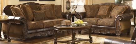 Antique Living Room Set by Buy Ashley Furniture 6310038 6310035 SET Fresco DuraBlend Antique Living Room