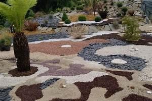 paillis mineral de differentes couleurs jardins 2 With amenagement jardin avec gravier 11 le jardin japonais encore 49 photos de jardin zen