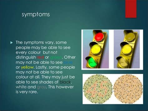 color blindness symptoms color blindness powerpoint
