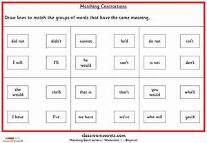 Matching Contractions Ks1 Spag Practice