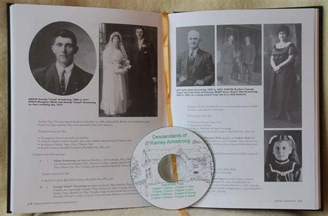family tree book descendants of rainey armstrong family history book