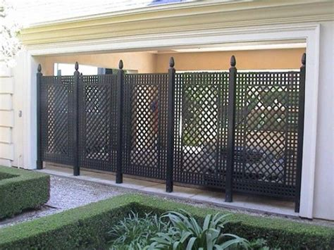 privacy screens love this outdoor iron privacy screen outdoors pinterest grey lattices and formal gardens