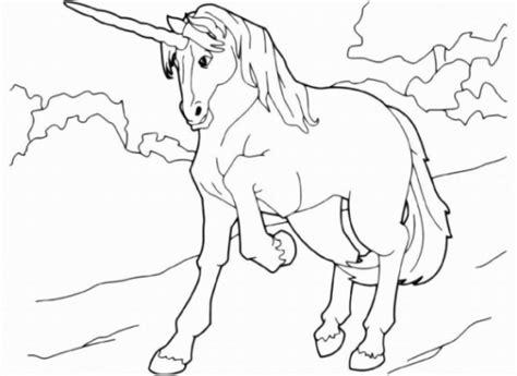 Malvorlagen Einhorn Sketch Coloring Page