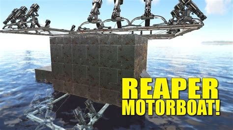 Ark Motorboat Builds by Reaper Turret Motorboat Build Fully Protected How Not To