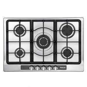 Plaque De Cuisson 5 Feux : plaque de cuisson focus f803x 5 feux inox 75 cm mytek ~ Dailycaller-alerts.com Idées de Décoration