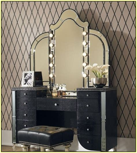 makeup vanity table with lighted mirror home design ideas