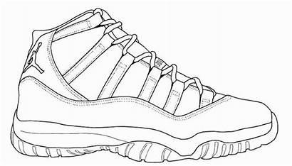 Jordan Coloring Shoe Shoes Pages Nike Sneaker