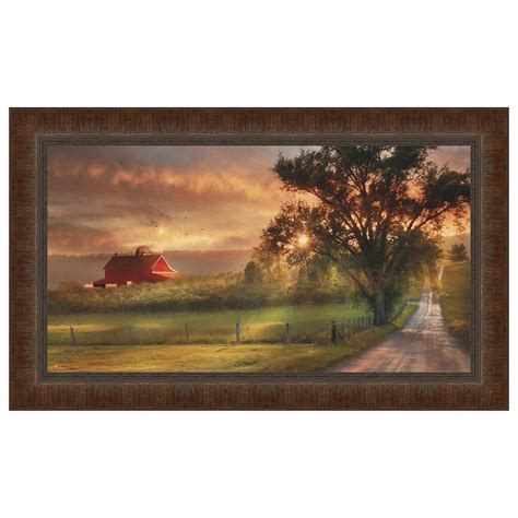 Country Lane Sunset Framed Print