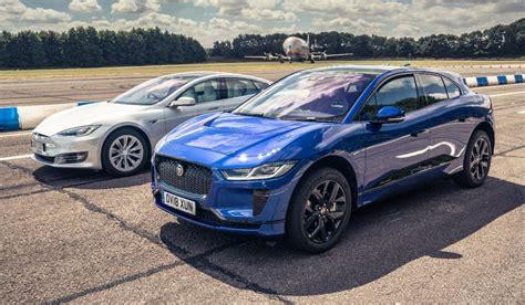 test jaguar  pace  tesla model   carblogger