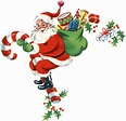 Retro Candy Cane Santa Image! - The Graphics Fairy