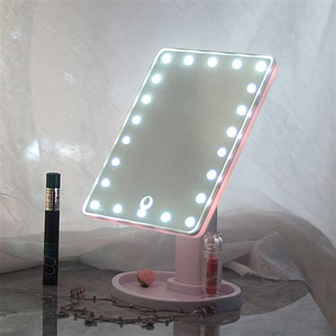 makeup mirror with light 22 led touch screen makeup mirror tabletop cosmetic vanity 9112