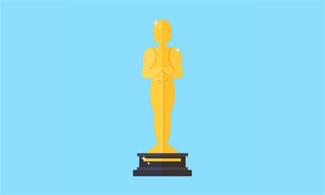 create  cartoon oscar trophy  illustrator bittbox