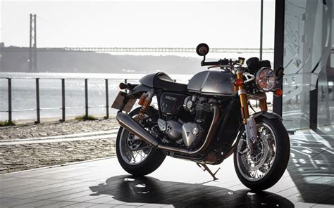 Triumph Scrambler 1200 4k Wallpapers by Wallpapers Triumph Thruxton 1200 R 2017 Bikes
