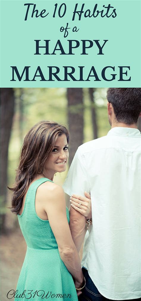The 10 Habits Of A Happy Marriage  Club 31 Women