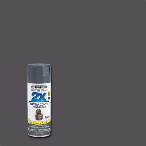 spray paint colors gray rust oleum painter s touch 2x 12 oz gloss gray