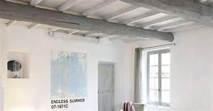 repeindre un plafond avec poutres en bois apparentes With commentaire peindre une poutre en bois 1 peinture poutre bois peinture poutre bois with peinture