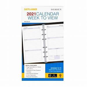 2021 Debden Dayplanner Personal Refill Weekly Dated