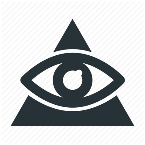 Illuminati Triangle Eye Eye Illuminati Masonry Religion Triangle Icon