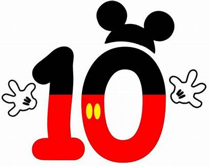 Mickey Mouse Clipart Numbers Disney Birthday Number