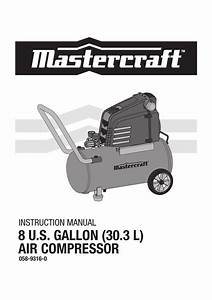 Mastercraft 8 U S  Gallon  30 3 L  Air Compressor