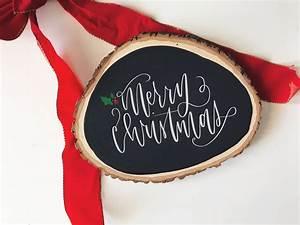 Merry, Christmas, Wood, Sign