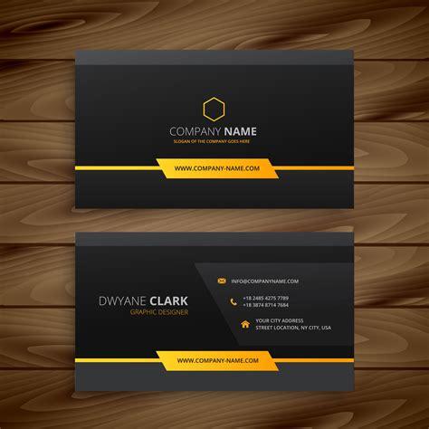 dark black business card vector design illustration
