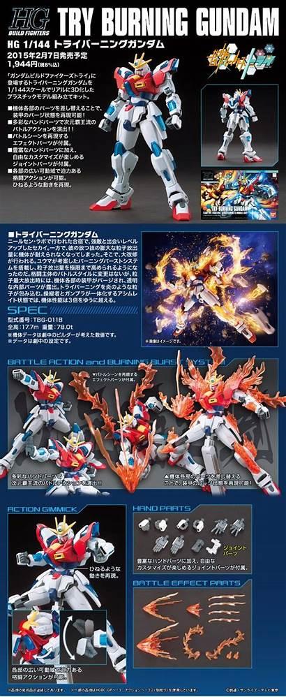 Gundam Burning Try Box Hgbf Poster Build