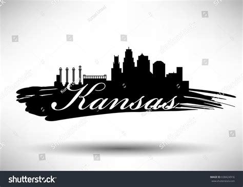 graphic design kansas city vector graphic design kansas city skyline stock vector