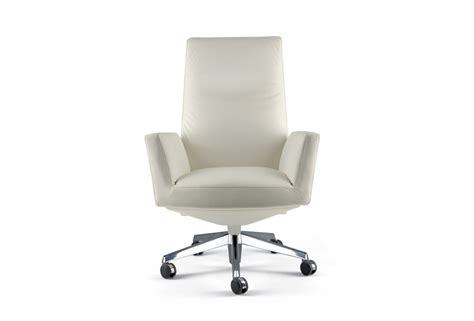 Chair With High Back Revolving Chancellor On Wheels