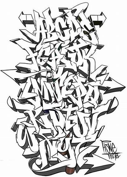 Graffiti Fonts Alphabet Font Wildstyle Styles Lettering