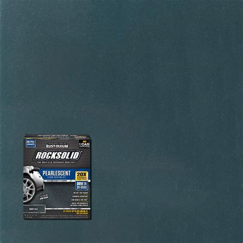 rust oleum rocksolid  oz pearlescent smokey blue garage