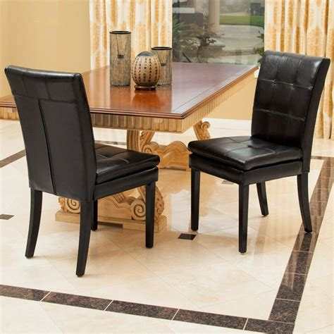 set   dining room furniture black leather dining chairs