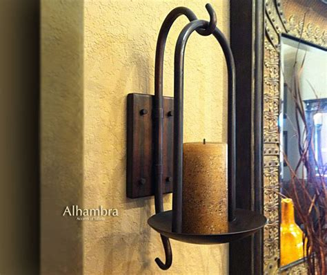 tuscan decor tuscan alhambra iron wall sconce candle