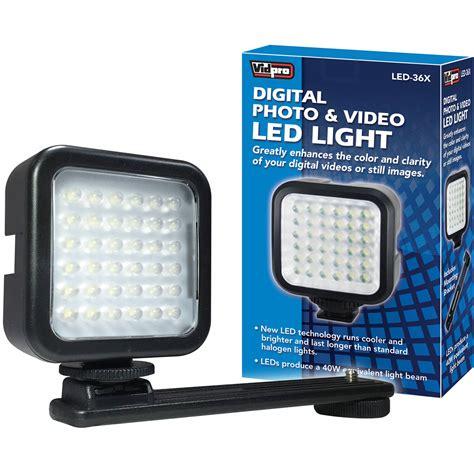 vidpro professional led light vidpro led 36x photo video on camera led light led 36x b h