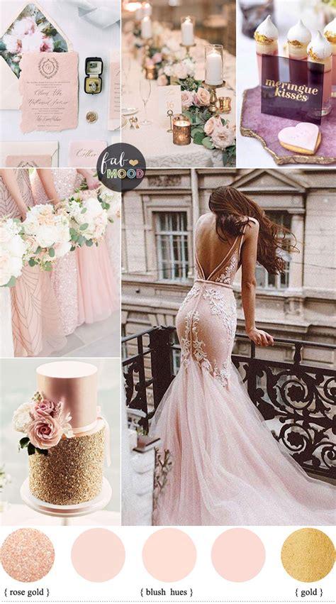 rose blush gold wedding themewedding color palette