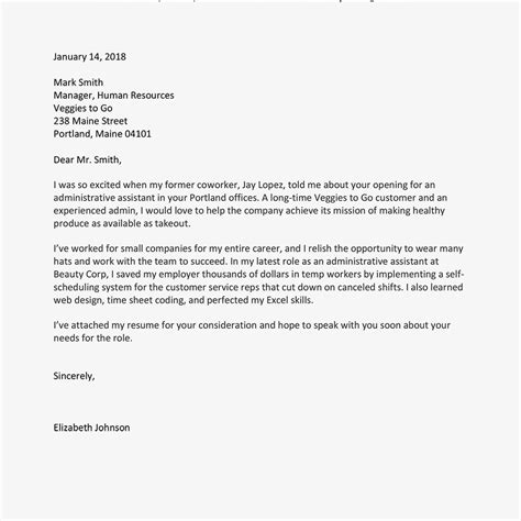 how to write a job application letter with sles