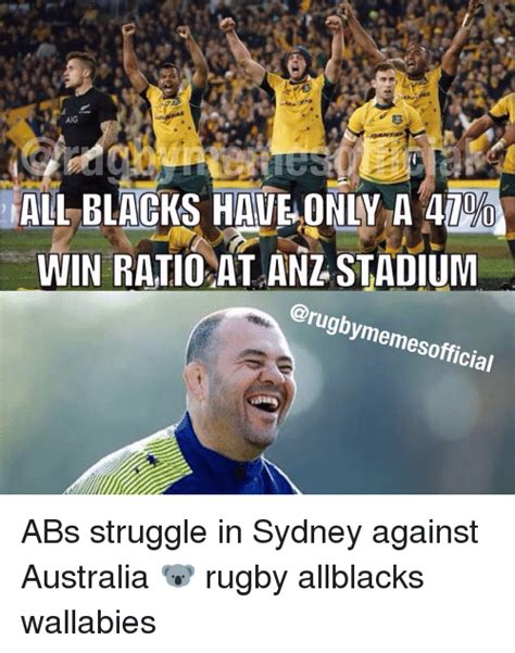 All Blacks Meme - all blacks have only a win ratio at anz stadium carugbymemesofficial abs struggle in sydney