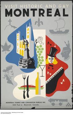 bureau air canada montreal canadian travel posters on vintage travel