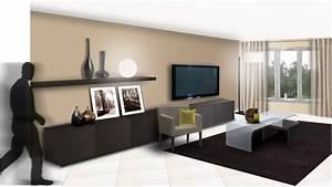 salon couleur gris taupe elegant gallery of design With awesome mur couleur lin et gris 11 decoration maison peinture mur exemples damenagements