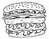 Coloring Pages Fries Cheeseburger French Super Detailed Void Action sketch template