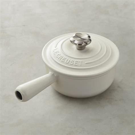 le creuset knob le creuset sauce pot with flower knob williams sonoma