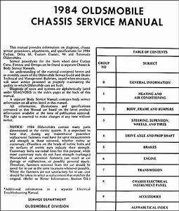 1984 Olds Repair Shop Manual 88 98 Cutlass Supreme