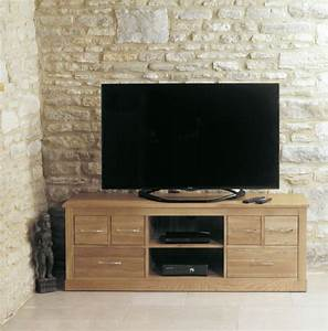 Buy Baumhaus Mobel Oak Widescreen Television Cabinet