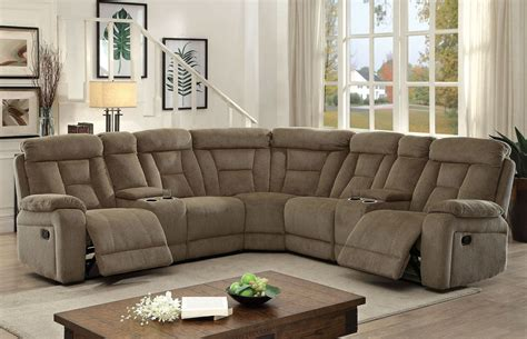 Sectional Sofas Reclining by Maybell Mocha Reclining Sectional From Furniture Of