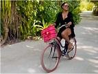 Bipasha Basu goes cycling around in Maldives   Hindi Movie ...